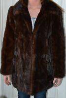 Vintage Medium Mink Dark Brown Fur Coat