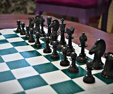 GOTHIC CHESS by Ed Trice w/ VINYL MAT - EXPANDED 8x10 VARIANT SET K=3½ in. (859)