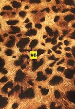 WILD ANIMAL Cheetah or Leopard type PRINT 100% COTTON FABRIC by the yard #6