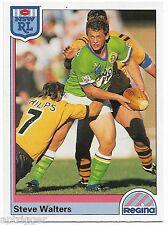 1992 NSW Rugby League REGINA Base Card (151) Steve WALTERS Canberra Raiders