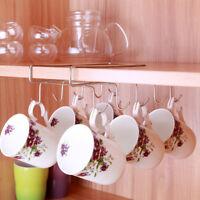 Under Shelf Coffee Cup Mug Holder Hanger Storage Rack Cabinet Hook Kitchen USA