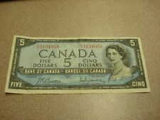 1954 - Canada $5 bill - Canadian five dollar note - EX3134958
