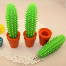 Green Cactus Ballpoint Pen Office School Writing Tool Kids Stationery Prize Gift
