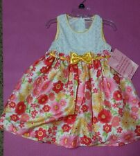 ***ON SALE***GIRLS/TODDLER YELLOW CORL DRESS SIZE 4T NWT