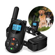Dog Training Collar Adjustable Remote dog Bark Collars Rechargeable For Dogs Pet