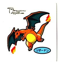POKEMON STICKER Carte JAPANESE 50X50 TISSU N° CHARIZARD DRACAUFEU