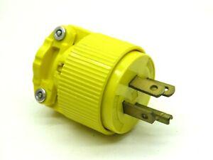 Arrow Hart 5783 Straight Blade Plug 20A 250V 3-Phase 3-Pole 4-Wire NEMA 15-20P