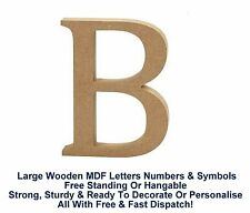 Freestanding Hanging Mdf Wooden Alphabet A-Z Letters Numbers Symbols 13cm X 2cm
