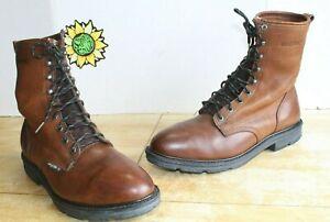 Vintage Wolverine Men's Dura shocks Boots ST Brown Leather. US Size 12 EE