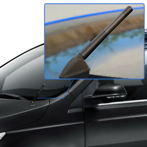 "1* Universal 4.7"" Short Black Real Carbon Fiber Radio Antenna For Toyota Lexus"