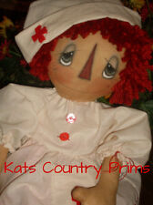 Primitive Raggedy Ann Style Nurse Annie Nightingale PAPER PATTERN #156