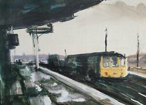 Railway Series L3 Original Mixed Media Painting on Paper