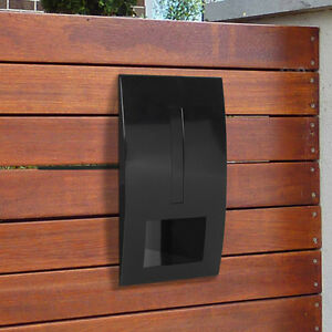 MILKCAN - BLACK FENCE MOUNT LETTERBOX Moden - Timber, Brick, Steel Fence, Gate