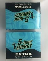 5 Hour Energy Shot Blue Raspberry Extra Strength 1.93 oz Bottles TWO 12 ct Boxes