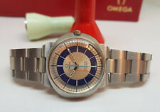 USED VINTAGE OMEGA DYNAMIC BLUE & SILVER DIAL MANUAL WIND MAN'S WATCH