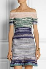 Herve Leger Liza Sunrise Water Color Dress Size XS $2490