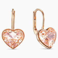 Swarovski Bella Heart Earrings Pink Rose Gold Plated 5515192