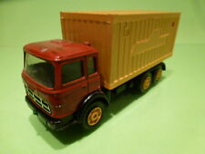 MERCURY FIAT TRUCK + CONTAINER - RED YELLOW 1:55 - GOOD CONDITION