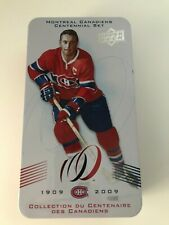2009 Upper Deck Montreal Canadiens Centennial Empty Tin Box JEAN BELIVEAU