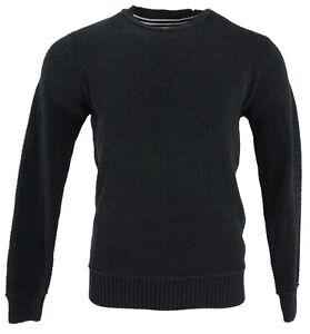 New Weatherproof Vintage Men's Medium Gray Cotton Textured Knit Pullover Sweater