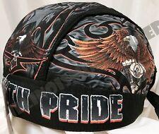 Original Ride with Pride Design Headwrap Biker Doo Rag Durag Cap #1016