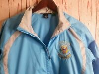 Golf Club The White House Womens Sz L Windbreaker Jacket Nylon Blue