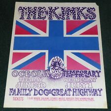 THE KINKS FAMILY DOG ON THE GREAT HIGHWAY ORIGINAL 1969 CONCERT POSTER