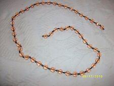 Light fixture chandelier parts glass string of amber cut glass beads craft