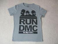 Run DMC King Of Rock Concert Shirt Adult Medium Gray Black Hip Hop Rap Music Men