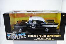 1:18 Ertl - 1957 Chevy Bel Air Chicago Police Department Lmtd. Edt. - neu/OVP*