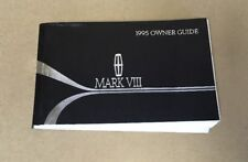 New listing 1995 Lincoln Mark Viii Owners Manual User Guide