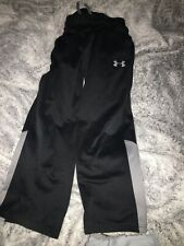 Boys Youth Small Under Armour Sweatpants Black Pockets