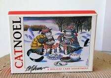 Box B. Kliban Cat Noel Christmas Holiday Cards, 4 Designs 19 Cards & Envelopes