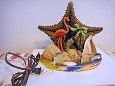 antique Sea Shell Souvenir Atlantic City, NJ  shell art VINTAGE LAMP starfish