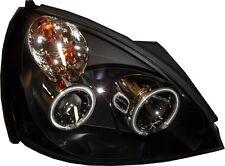 FARI Proiettore Lhd Angel Eyes CCFL NERO Coppia Per Renault Clio B 02-on