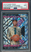 2018 Panini Prizm Luke of the Lottery Fast Break #11 Shai Gilgeous-Alexander ...