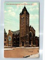 Rochester NY, First Methodist Episcopal Church, Vintage New York Postcard