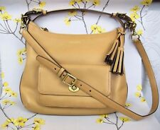 Lovely genuine COACH SHOULDER BAG ~ HANDBAG. Tan leather. Very good condition.