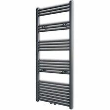 Handdoekradiator grijs recht 600 x 1424 mm handdoek radiator verwarming