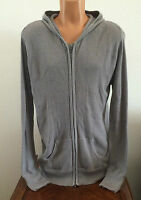 Mens Size XXL Kings of Glory Full Zip Hooded 100% Cotton Thermal Sweater Gray