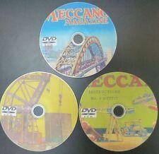 Vintage Meccano Revistas manuales y folletos de los planes de construcción Collection 3 Dvd Set