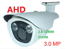 TELECAMERA AHD 3.0 MP VIDEOSORVEGLIANZA LED IR ARRAY ZOOM VARIFOCALE 2.8-12MM