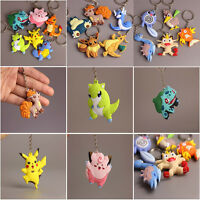 Pokemon Go Pikachu Charmander Bulbasaur Keyring Keychain Ring Keyfob Key Chain