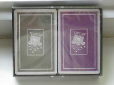 Printed in Belgium KINGS Playing Cards 2 Decks in Plastic Case