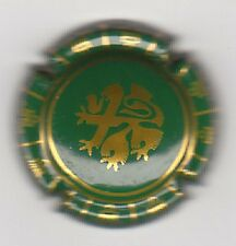 capsule champagne UNION CHAMPAGNE DE SAINT GALL, vert dessin OR