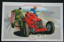 Maserati 8CM  Racing Car   Illustrated Picture Card  CAT A