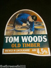 BEER PUMP CLIP - TOM WOODS OLD TIMBER