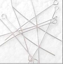 100 PEZZI 0,8 mm di spessore FERRO eyepins-ARGENTO-A6028 / 50mm