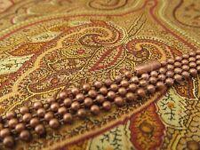 "5 Antique Copper Ball Chain Necklaces - 24 Inch - Pendant Dog Tag Bottle Cap 24"""