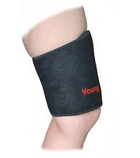 Thigh Wrap - Hamstring Support - Wrap-around Brace - One Size - Black - Neoprene